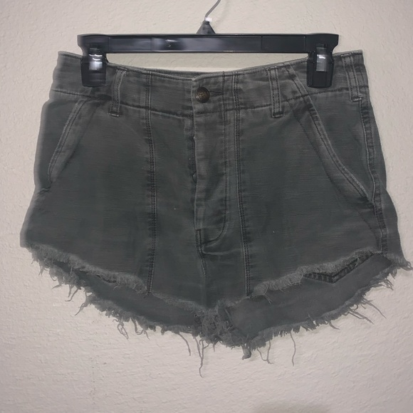 Free People Pants - FREE PEOPLE BLACK CUT OFF SHORTS